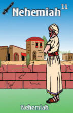 Nehemiah Bible trading card front