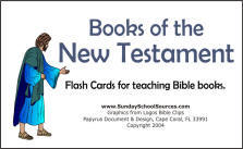 New Testament books of the Bible flashcards