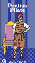 Pontius Pilate Bible card front