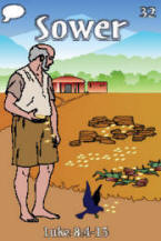 Sower Parable Trading Card