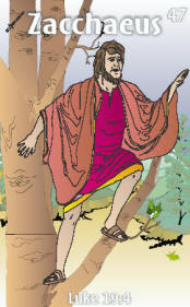 Zacchaeus Trading Card Front