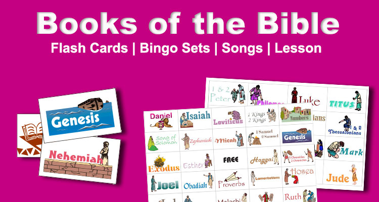 Free Sunday School lessons printables games worksheets songs – Books of the Bible Worksheets